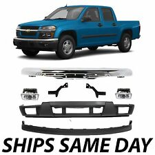 NEW Chrome Front Bumper Valance Kit W/ Fog Lights For 2004-2012 Chevy Colorado