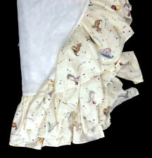 Classic Winnie the Pooh~Crib Skirt Dust Ruffle Red Calliope Nursery Baby Vintage