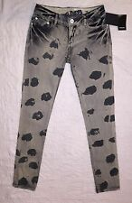 "Nine Days Jeans Lowrise Skinny Distressed Womens Jeans Sz 29"" Hips New MRSP $118"