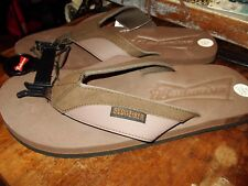 """BUDWEISER LOGO SANDAL,  Flip Flops BROWN  """"Suede Look"""" Adult size small 7/8 NEW"""