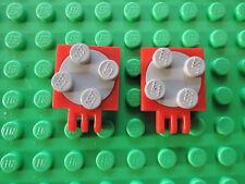 LEGO 15 x Platten Drehteller 2x2 gelb althellgrau yellow oldgrey 3680 3679