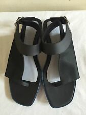 New Without Box $640 KENZO Black Leather Slides Sandals Shoes 39/9