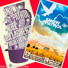SNOW PATROL, NOEL GALLAGHER 2012 original 11x17 Concert Posters. 2 versions.
