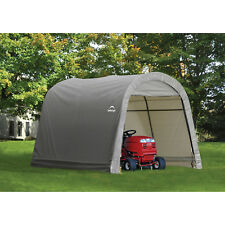 Storage Shed RoundTop Outdoor Patio Garden Durable Shelter Steel 10' x 10' x 8'