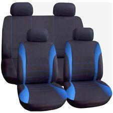 Universal Car Seat Covers Set COMPLETO BLU/NERO Lavabile AIRBAG si adatta ALFA remeo