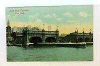 New York City NY South Ferry Terminal Vintage Postcard