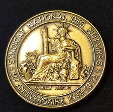 A0362 - Médaille Syndicat National des Notaires 30e Anniversaire 1949-1979