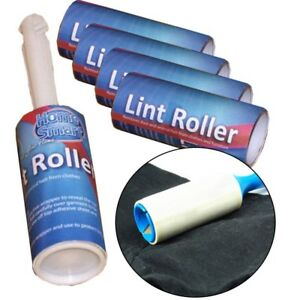 5 ROLLS LINT REMOVER ROLLER STICKY BRUSH DUST FLUFF FABRIC PET dog HAIR CLOTHES