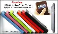 Fiber PU Leather Window Cover Matte Clear Case For iPhone 6 (4.7 inch)Premium!