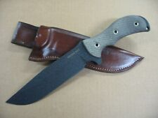 Busse Swamp Rat RATWEILER Custom Molded Leather Knife Sheath BROWN