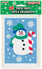 50 x CHRISTMAS Snowman Loot bags small cello Party bags favours FREE P&P