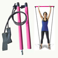 Portable Pilates Stretch Rope Gym Stick Yoga Exercise Bar Pilates Trainer Rope