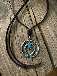 Contemporary Naja Necklace Old Turquoise By Sundance Artist  Adrienne Teeguarden