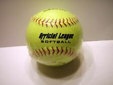 New Worth Neon Yellow 12in Official League Softball Ball.