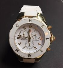 Michele Tahitian Jelly Bean Large White Watch with gold trim