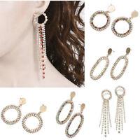 Luxury Earrings Crystal Tassel Drop Earrings Fashion Elegant Jewelry Women NEW