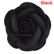 Camellia Flower Pin Brooches Craft Party Cloth Women Brooch Jewelry M&FU