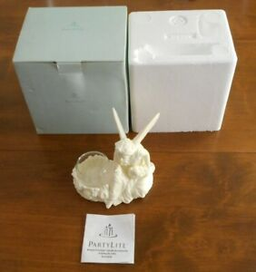 PARTYLITE, BISQUE PORCELAIN, CANDLE HOLDER, ANGEL FAIRY, BLOWING KISS FIGURINE