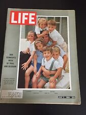 Vintage July 3, 1964 LIFE Back Issue Magazine - Bob Kennedy & Family
