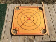 Carrom Wood Tabletop Game, Vintage Decorative Two Sided Board Game