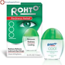 Rohto Cool Redness Relief Eye Drops 0.4 oz cooling - PACK OF 3