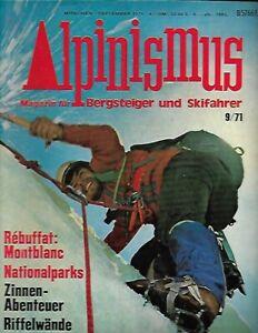 E - September 1971 ALPINISMUS Magazine German Mountaineering Mountain Climbing