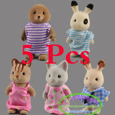 5pcs Sylvanian Families Rabbit squirrel Families Figure l Kids Toy Dolls Random