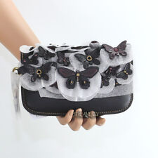 NWT Coach 1941 Butterfly Applique Leather Wristlet Clutch Wallet 24018 RARE