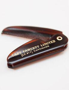 Captain Fawcett Mens Folding Pocket Moustache Styling Comb 87T