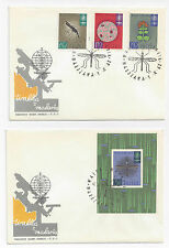 Poland 1962 FDC WHO Souvenir Sheet Malaria Mosquito Sc 1087 189 1090 2X Covers