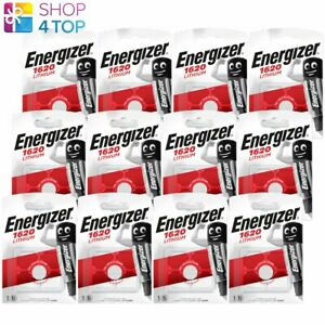 12 ENERGIZER CR1620 LITHIUM BATTERIES 3V COIN CELL DL1620 EXP 2029 NEW