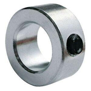20mm Bore Shaft Locking Collar, Un-plated Mild Steel with Grub Screw