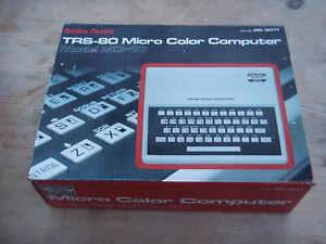 Tandy TRS-80 MC10 Colour Computer with Cassette Deck & Cables 16K RAM 4xgames