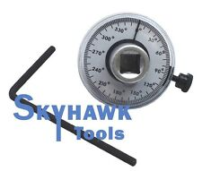 "1/2"" Dr Torque Angle Rotation Scale Gauge Meter Calibrated 360° Measurer Auto"