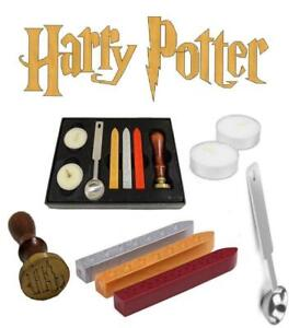 Harry Potter Hogwarts Vintage School Wax Badge Seal Stamp Kits Tool Gift Set 9