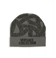 Versace Collection Wool Blend Beanie Hat New Skully Free Shipping!!!