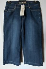 "WOMEN'S JEANS CAPTURE GAUCHO WIDE LEG STRETCH SIZE 10 LEG 21"" NWT FREE POSTAGE"