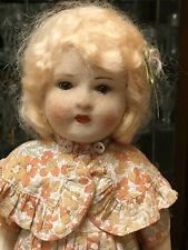"""Totally Original Vintage Chad Valley Girl Glass Eyes, Full Original Outfit, 15"""""""