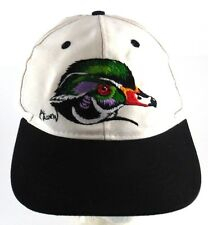 Al Agnew Wood Duck Embroidered Snapback Hat Beige with Black Bill One Size
