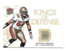 2006 Ultra Football Derrick Brooks Buccaneers Kings Of Defense Insert #KD-DB