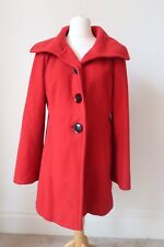 Winter Coat Size 12 Wool Cashmere Blend Christmas Red Lined Fuchs Scmitt