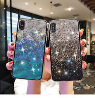 For iPhone 11 Pro Xs Max XR 8 Gradient Full Diamond Rhinestone Case Bling Cover