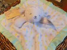 CARTERS SECURITY BLANKET SHEEP WHITE STARS GREEN YELLOW GRAY CHILD OF MINE NEW