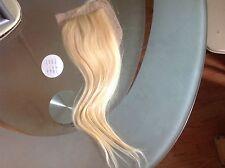 BRAZILIAN VIRGIN SILK BASE CLOSURE14INCH BLONDE 613# 4X4 Bleach Knot,STRAIGHT