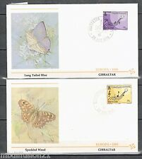 1985//GIBRALTAR//FDC 1°JOUR!!**PAPILLON-MUSIQUE**TIMBRE EUROPA /Y/T N°495/6