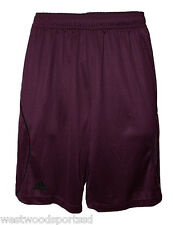 ADIDAS ADULT VARSITY PERFORMANCE LOOSE FIT SHORTS (L) #9700 NEW MAROON