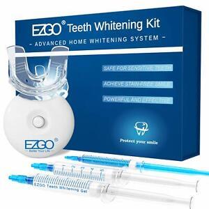 EZGO No Sensitive Teeth Whitening Kit 44%cp, Dental Grade Gel, Light Shade Guide