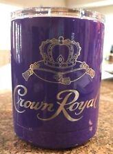 YETI  Lowball low ball 10  oz Crown Royal laser engraved purple powder coated *