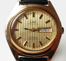Gents 1970's GP Limit 17 Jewel Mechanical FE 140-2A Day Date Watch Serviced