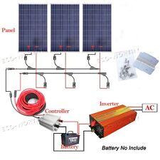 300Watt Solar Module Kit 3*100W Solar Panel W/ 1KW 1000W Pure Sine Wave Inverter